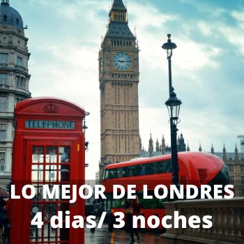 Estudiantes Lo mejor de Londres 4 dias / 3 noches