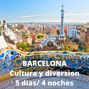 Estudiantes Barcelona cultura y diversion 5 dias / 4 noches