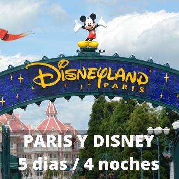 Estudiantes Paris y Disney 5 dias / 4 noches